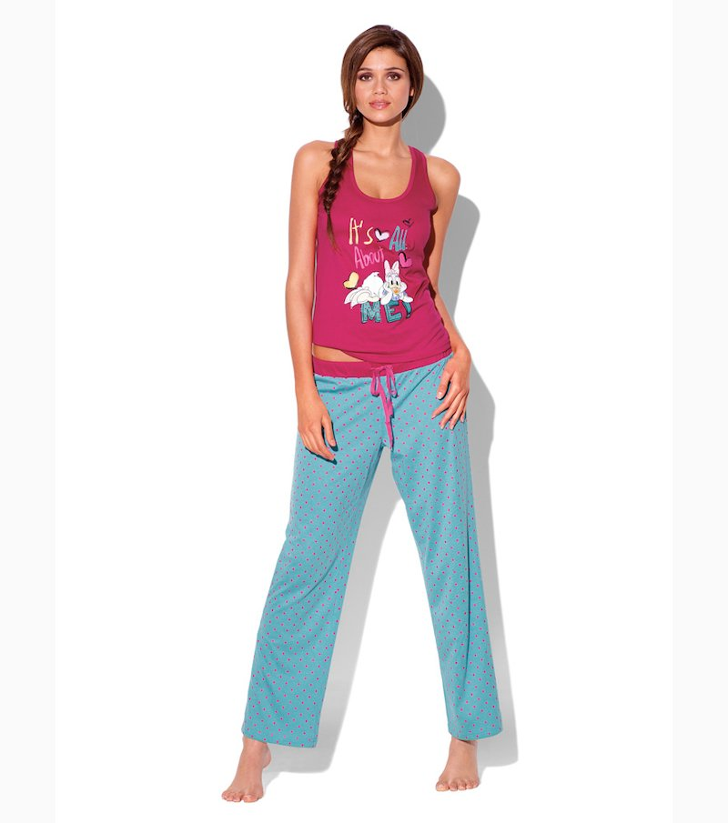 Pijama Daisy 2 piezas mujer camiseta y pantalón