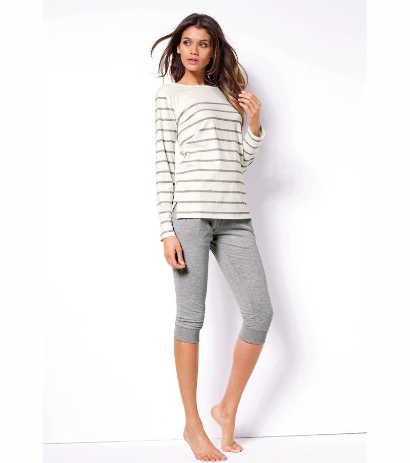 Pijama 2 piezas mujer corsario rayas 100% algodón