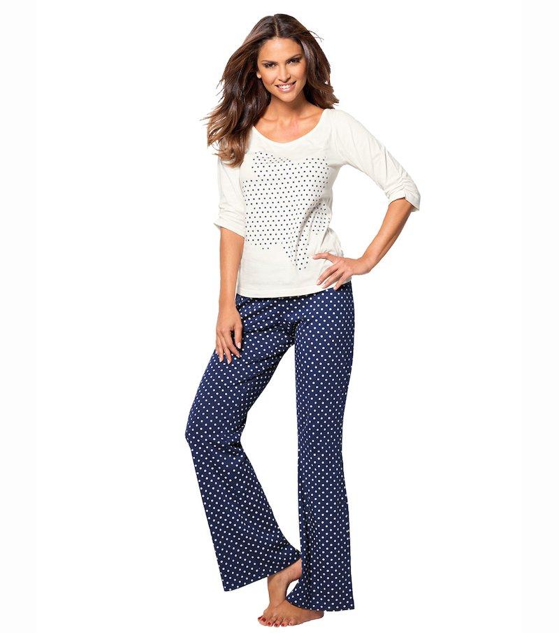 Pijama largo mujer 2 piezas 100% algodón