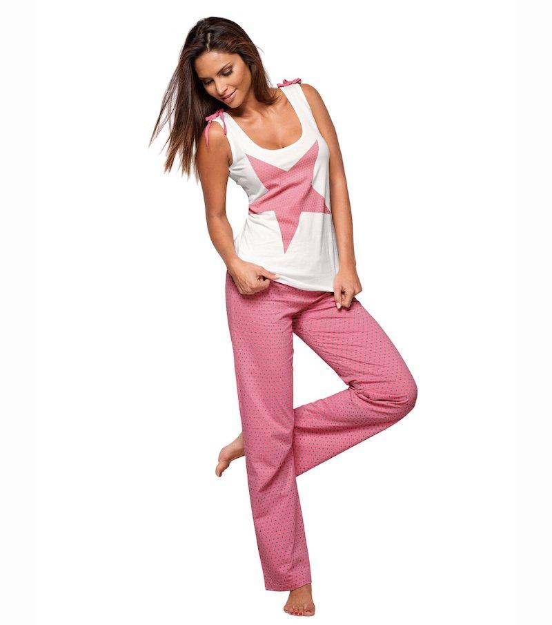 Pijama 2 piezas mujer 100% algodón - Crudo