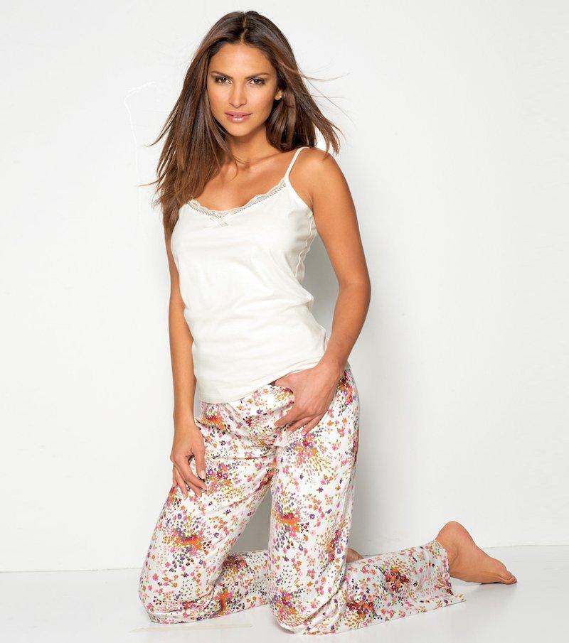 Pijama largo 2 piezas mujer top tirantes