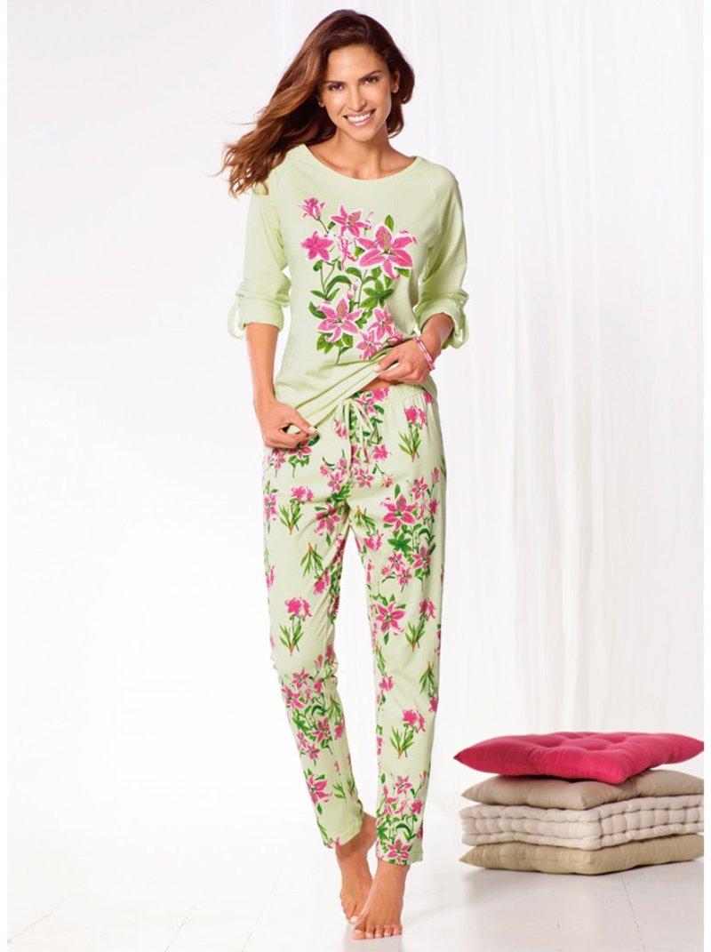 Pijama largo 2 piezas mujer 100% algodón