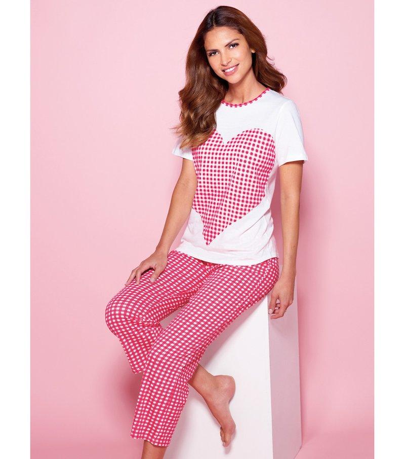 Pijama 2 piezas mujer pirata estampado - Blanco