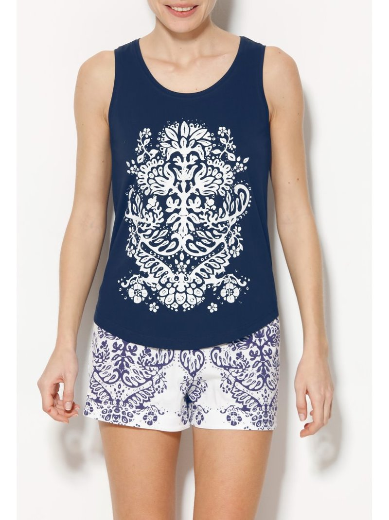 Pijama corto estampado camiseta y short