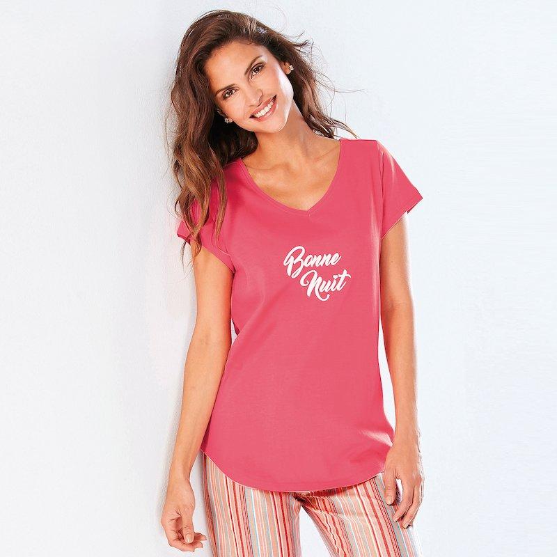 Camiseta pijama estampado gráfico frontal