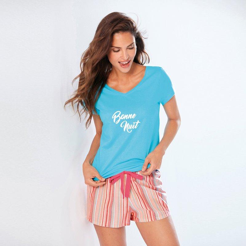 Pantalón corto de pijama con cintura ajustable