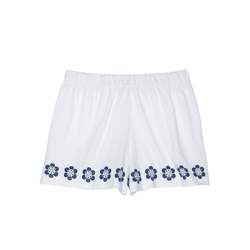 Short de pijama mujer de algodón con estampado floral