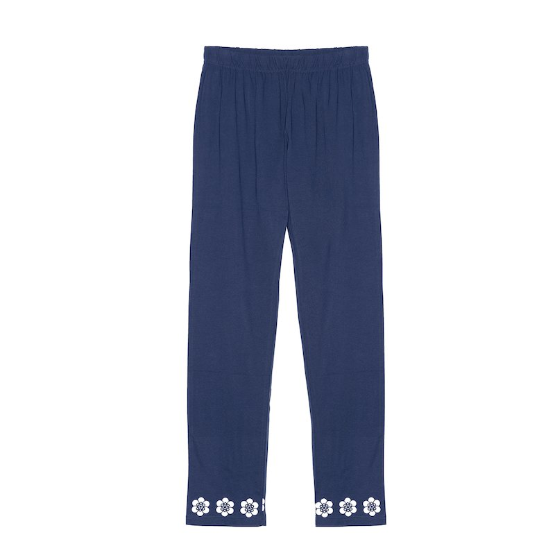 Pantalón largo de pijama punto mujer floral