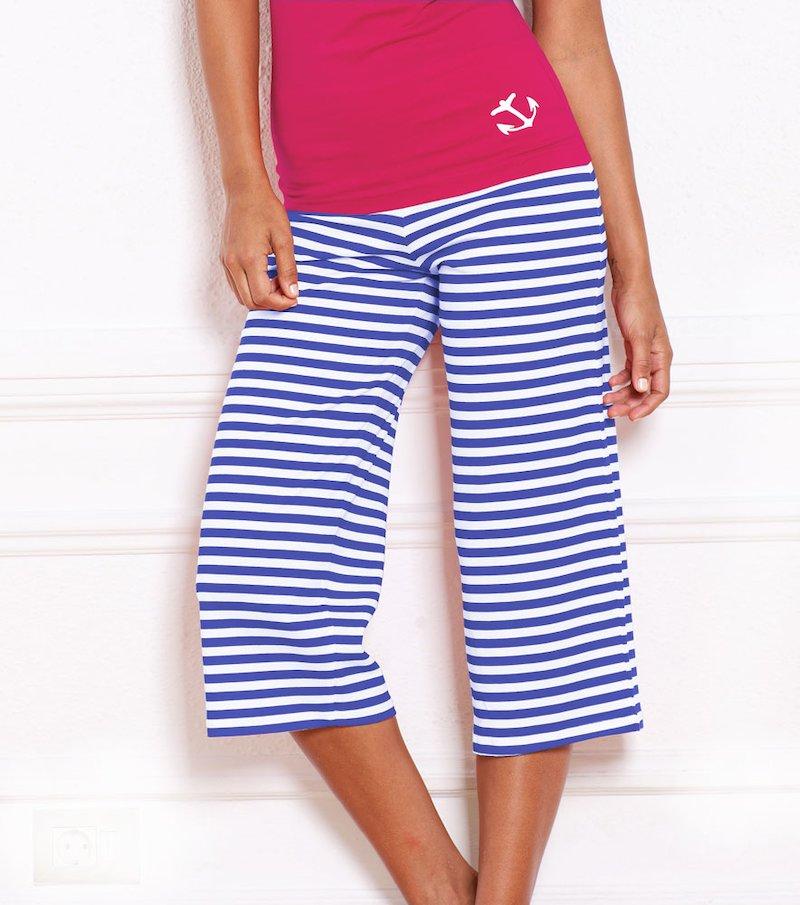 Pantalón pirata mujer pijama 100% algodón