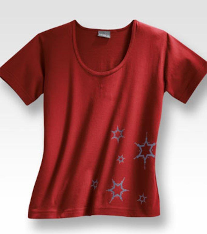 Camiseta manga corta 100% algodón - Rojo