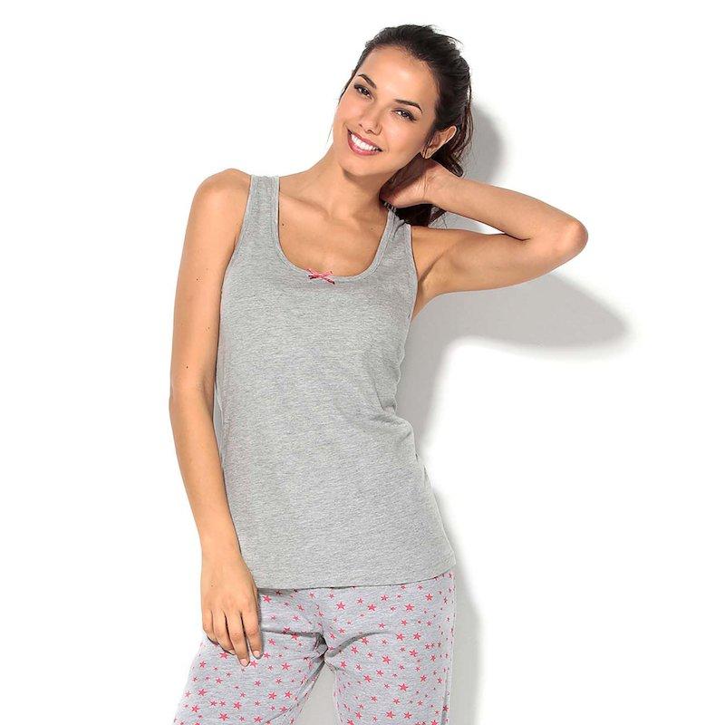 Camiseta de pijama mujer de tirantes con lazo