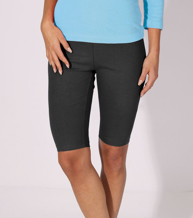 Pantalón ciclista mujer de punto - Negro