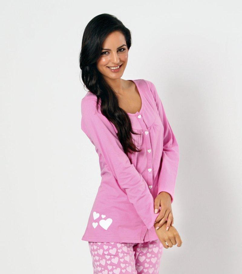 Chaqueta de pijama mujer manga larga de algodón