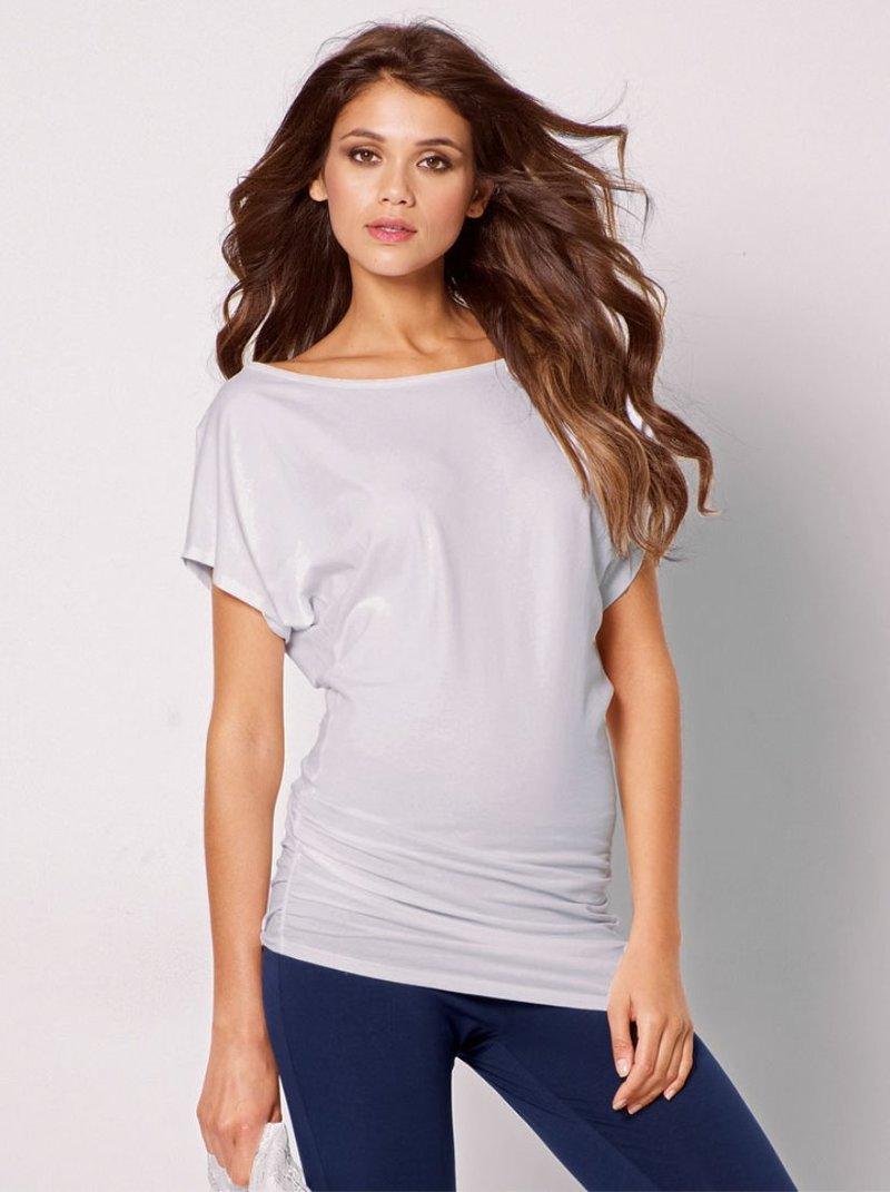 Camiseta mujer asimétrica punto elástico