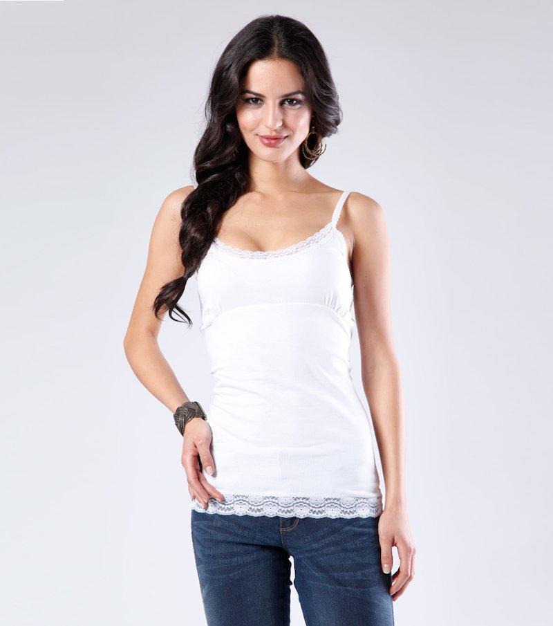 Camiseta mujer tirantes con encaje