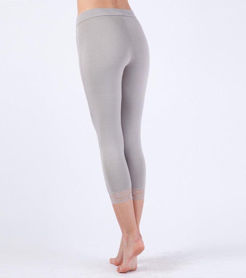 Pantalón legging mujer con encaje punto elástico