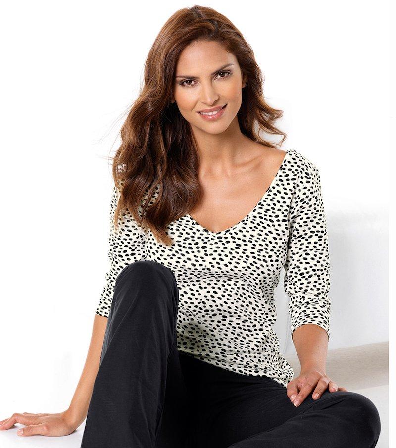 Camiseta mujer manga 3/4 100% algodón