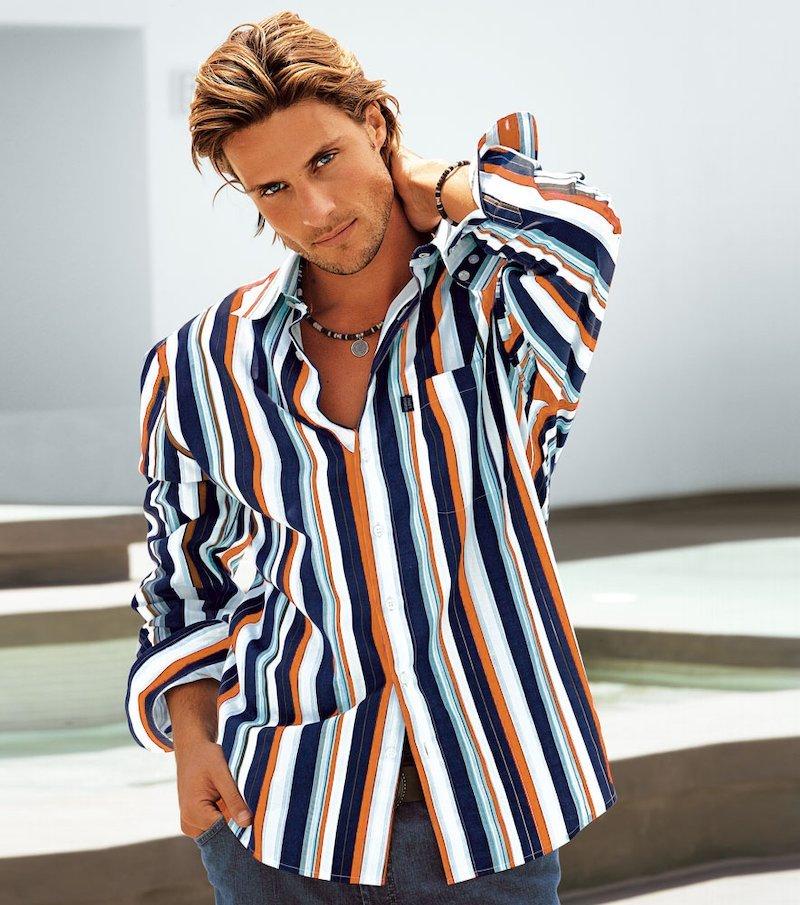 Camisa estampada hombre 100% algodón