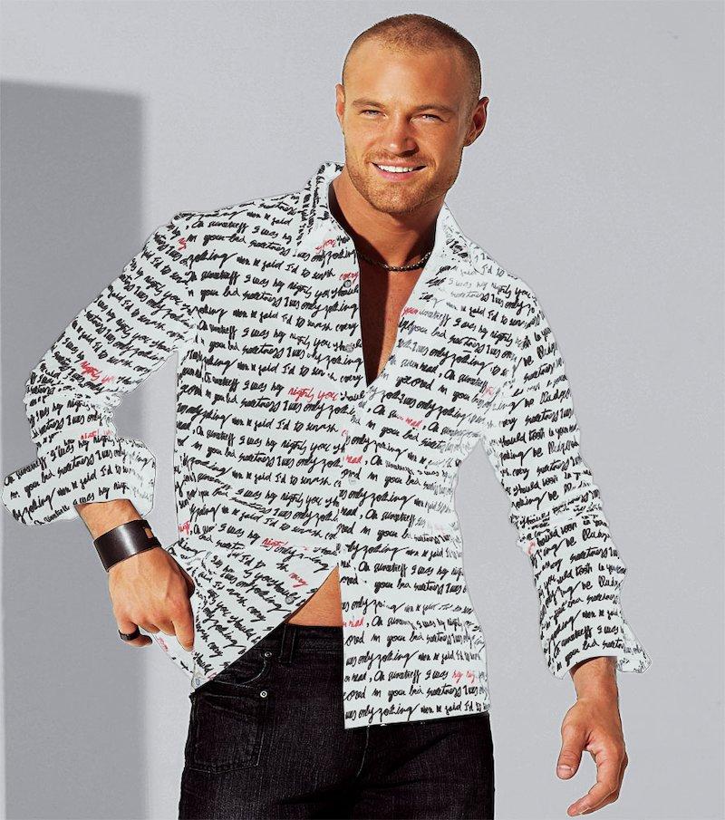 Camisa hombre estampada 100% algodón