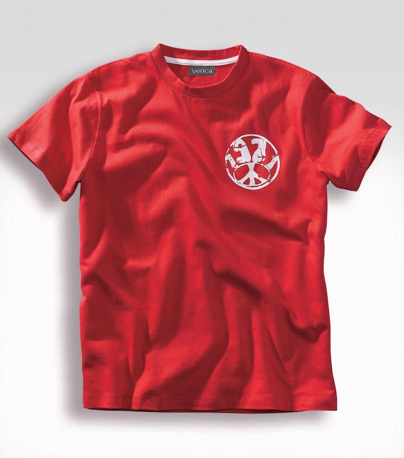 Camiseta hombre manga corta estampada 100% algodón