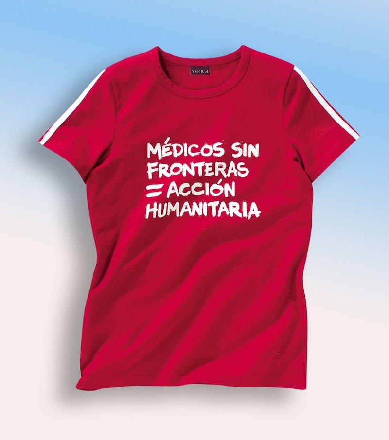 Camiseta hombre Médicos sin Fronteras.