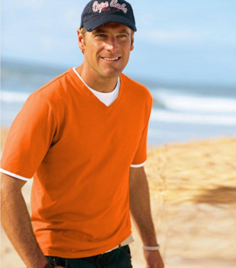 Camiseta de hombre efecto doble