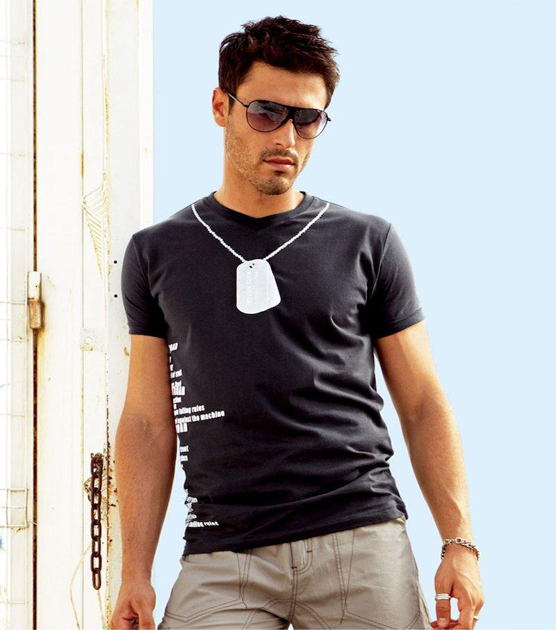 Camiseta hombre estampada 100% algodón