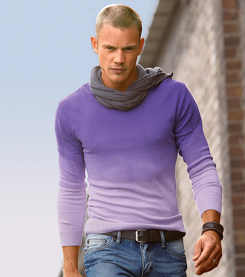 Jersey hombre estampado degradado tie & dye