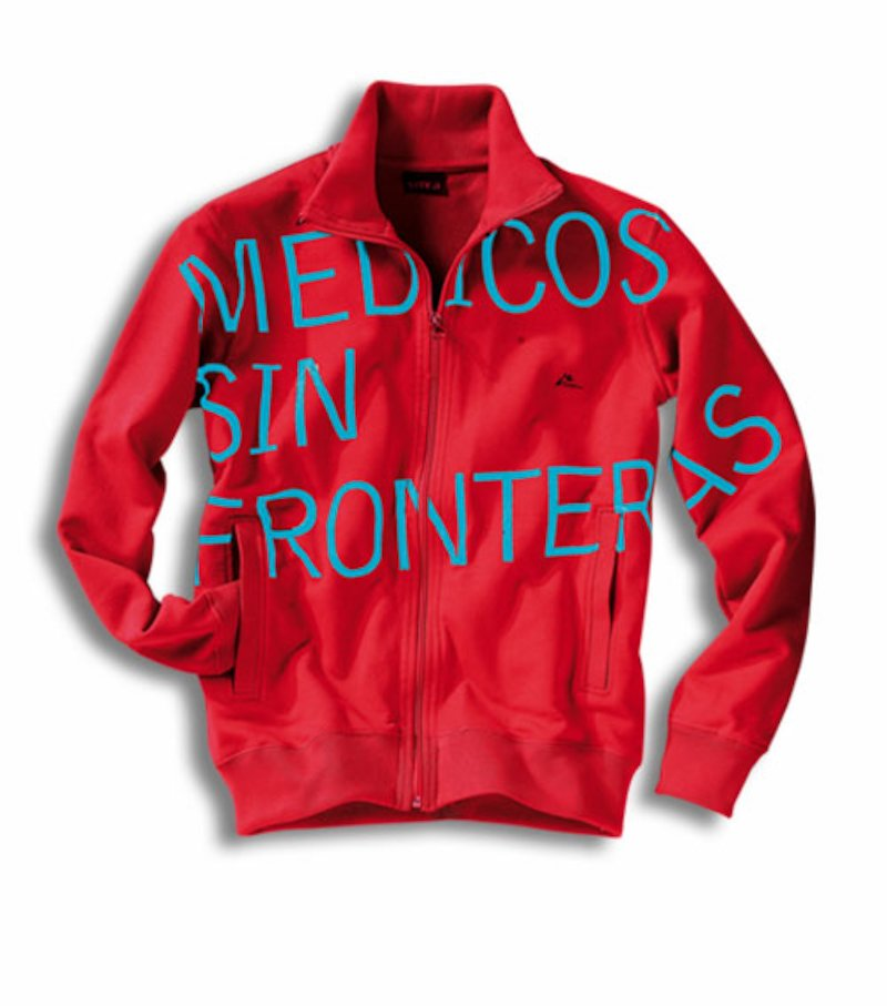 Chaqueta con cremallera Médicos Sin Fronteras