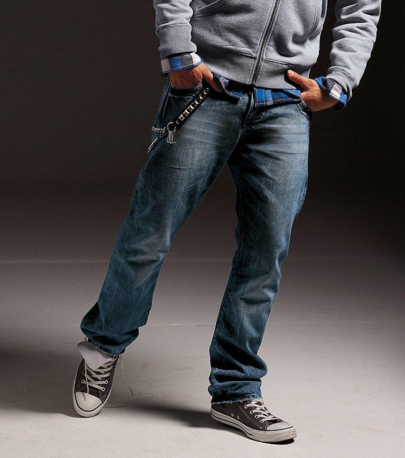 Pantalón largo vaquero jean hombre