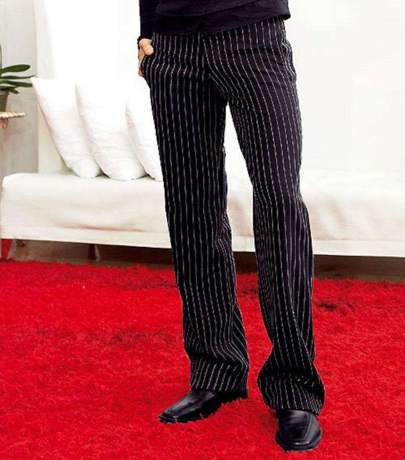 Pantalón de hombre en negro o rayas
