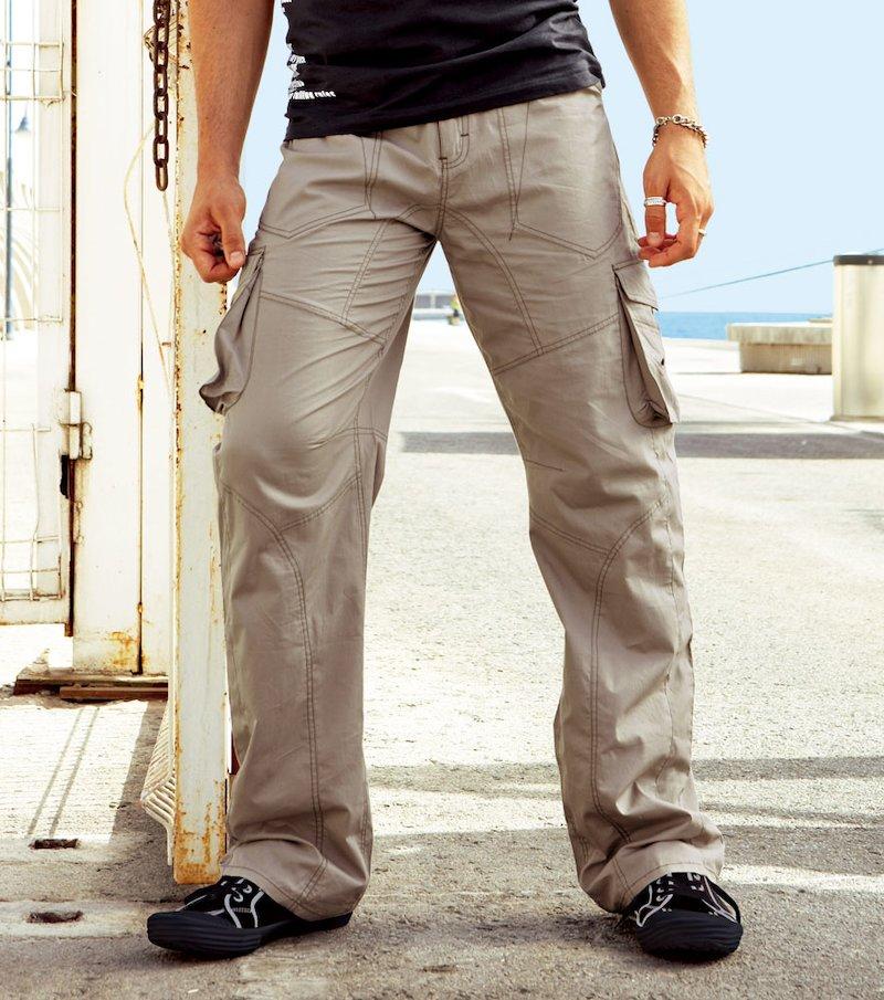 Pantalón hombre multibolsillos 100% algodón