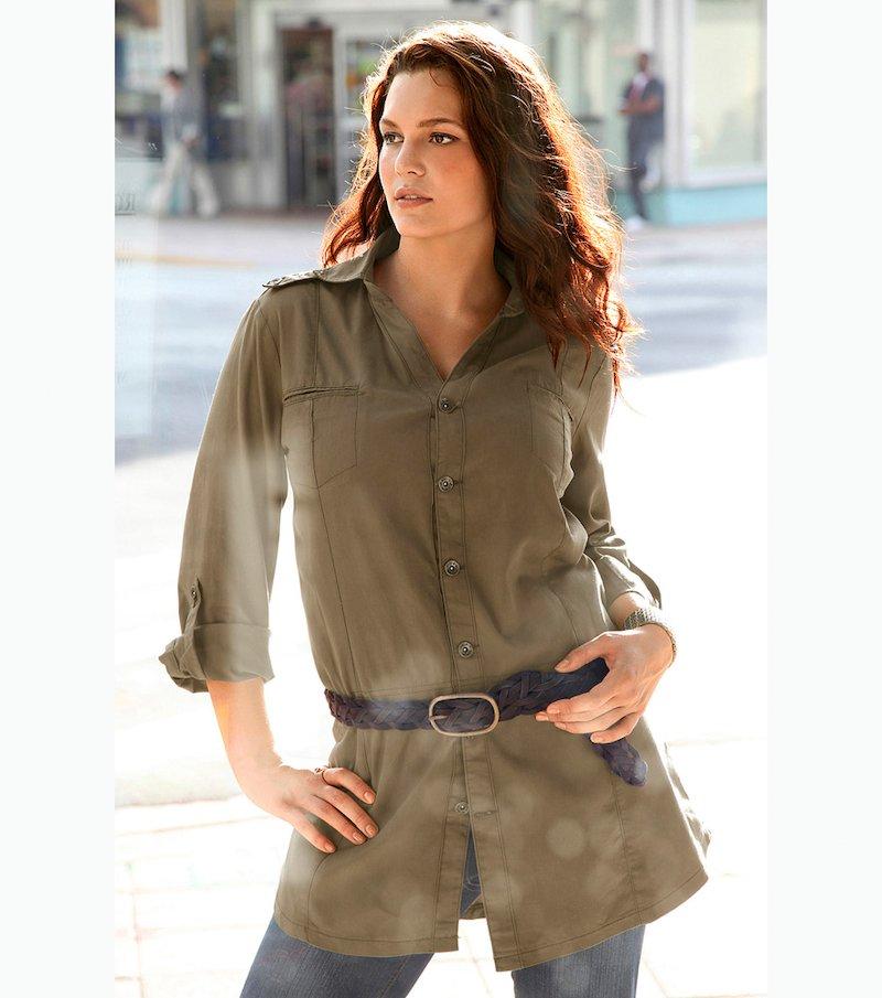 Camisa larga mujer 100% algodón