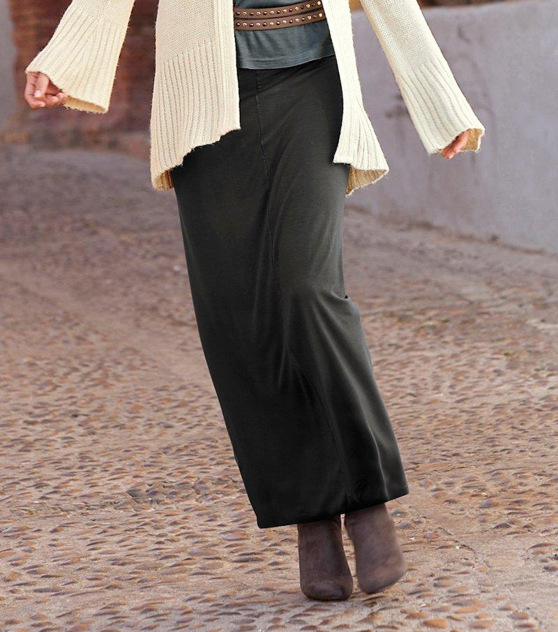 Falda larga de mujer de tubo