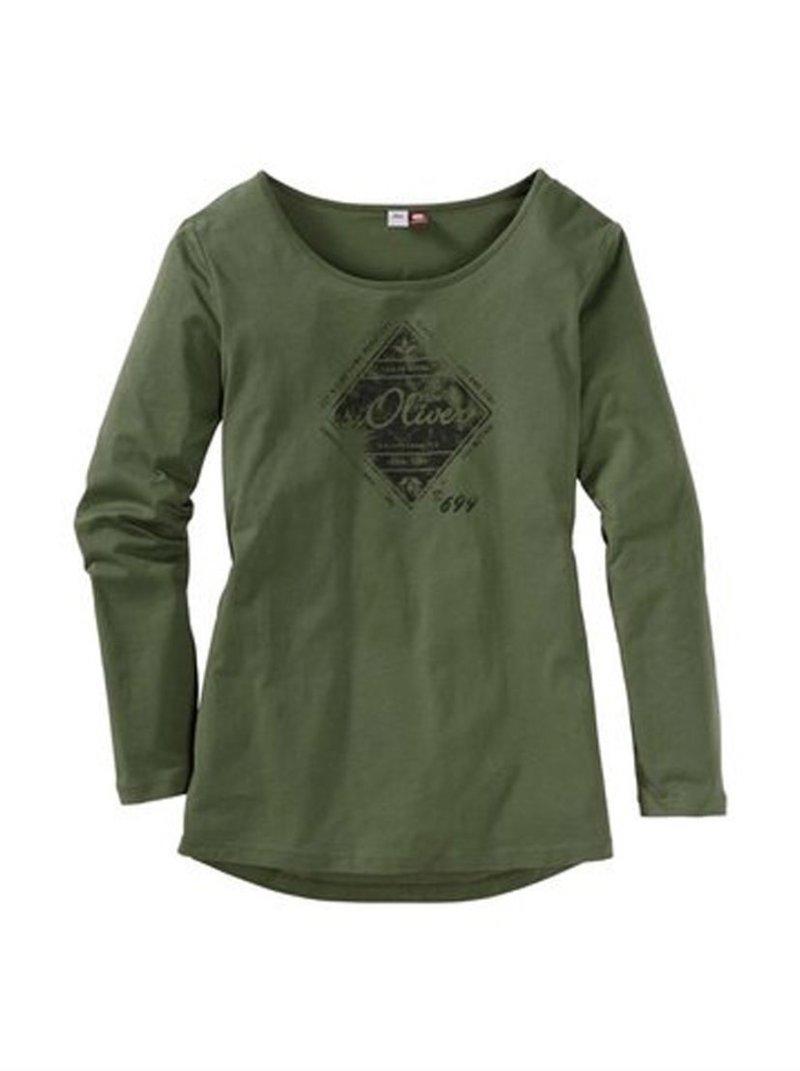 Camiseta manga larga de mujer S. OLIVER