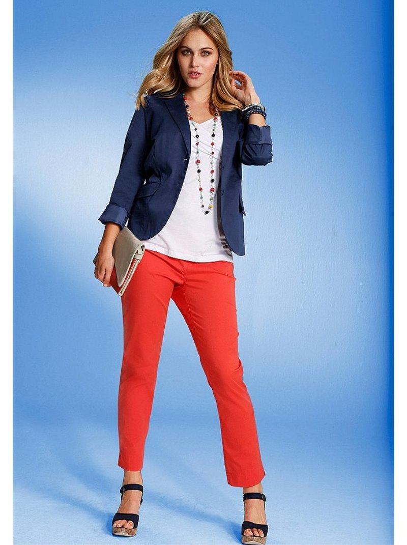 Pantalón elástico de mujer - Naranja