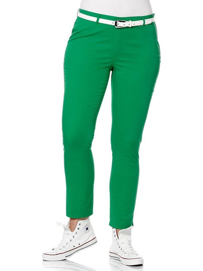 Pantalón elástico de mujer - Verde