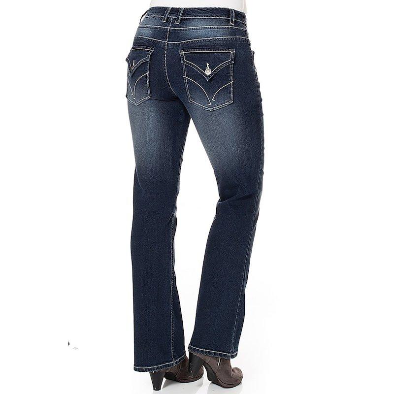Pantalón vaquero corte bootcut mujer