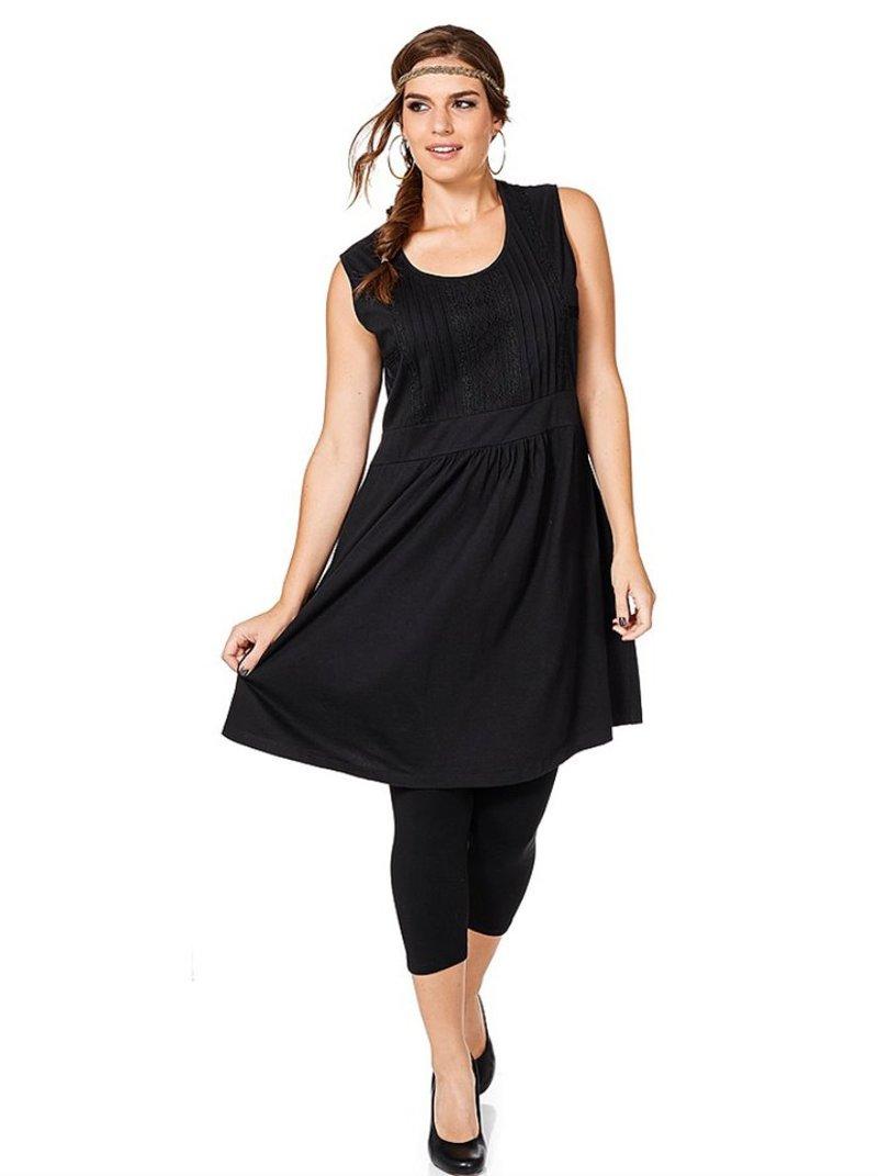 Vestido sin mangas para mujer - Negro