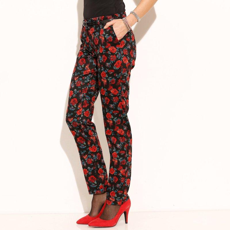 Pantalón largo mujer estampado