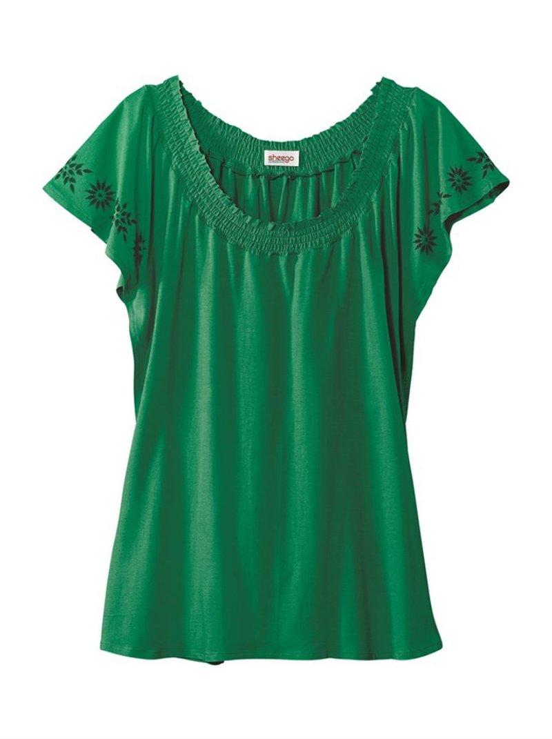 Camiseta manga corta mujer escote redondo