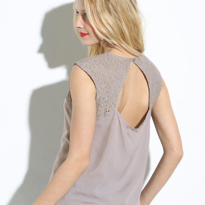 Blusa espalda abierta mujer