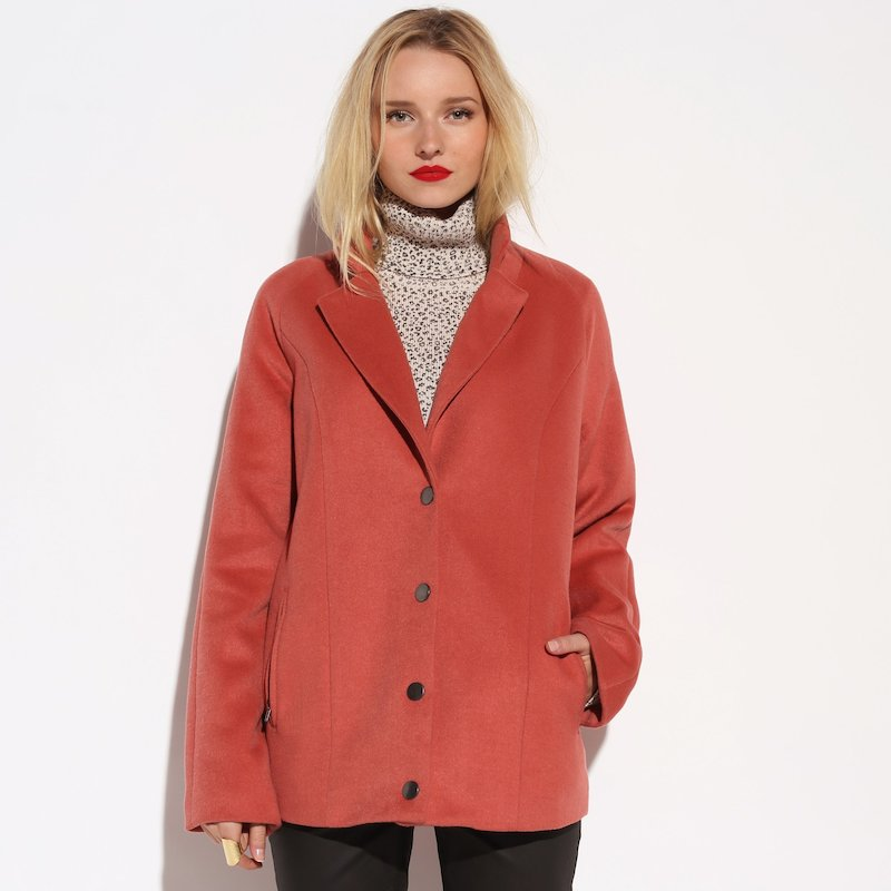 Abrigo corto mujer - Rosa