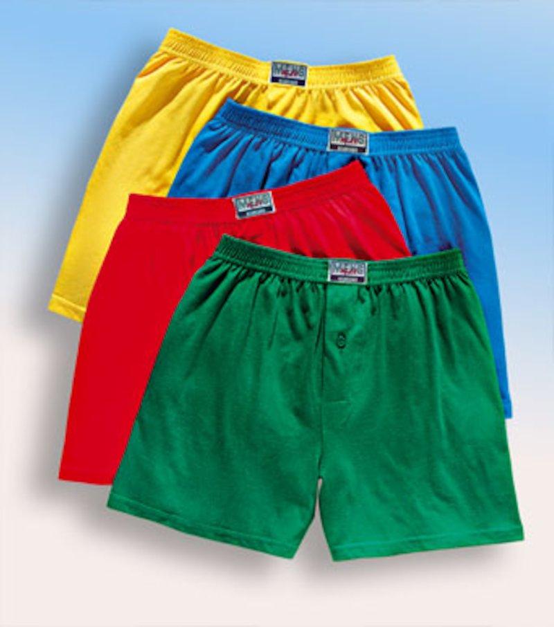 Lote de 4 boxers hombre - Amarillo