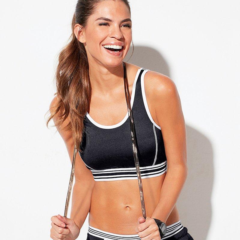 Camiseta top fitness mujer banda elástica