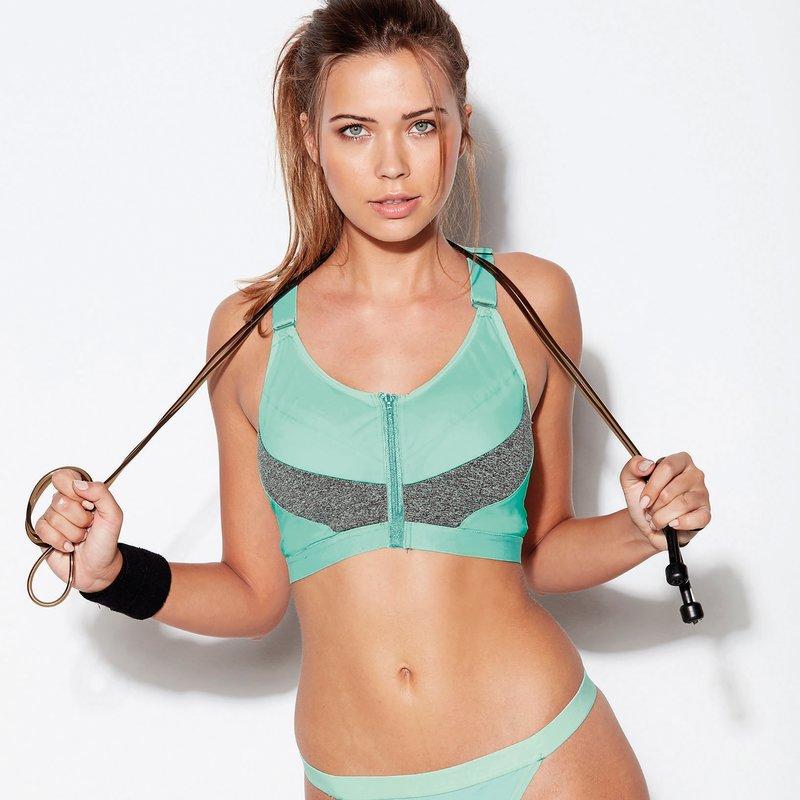 Top deportivo fitness mujer con sujetador copa B