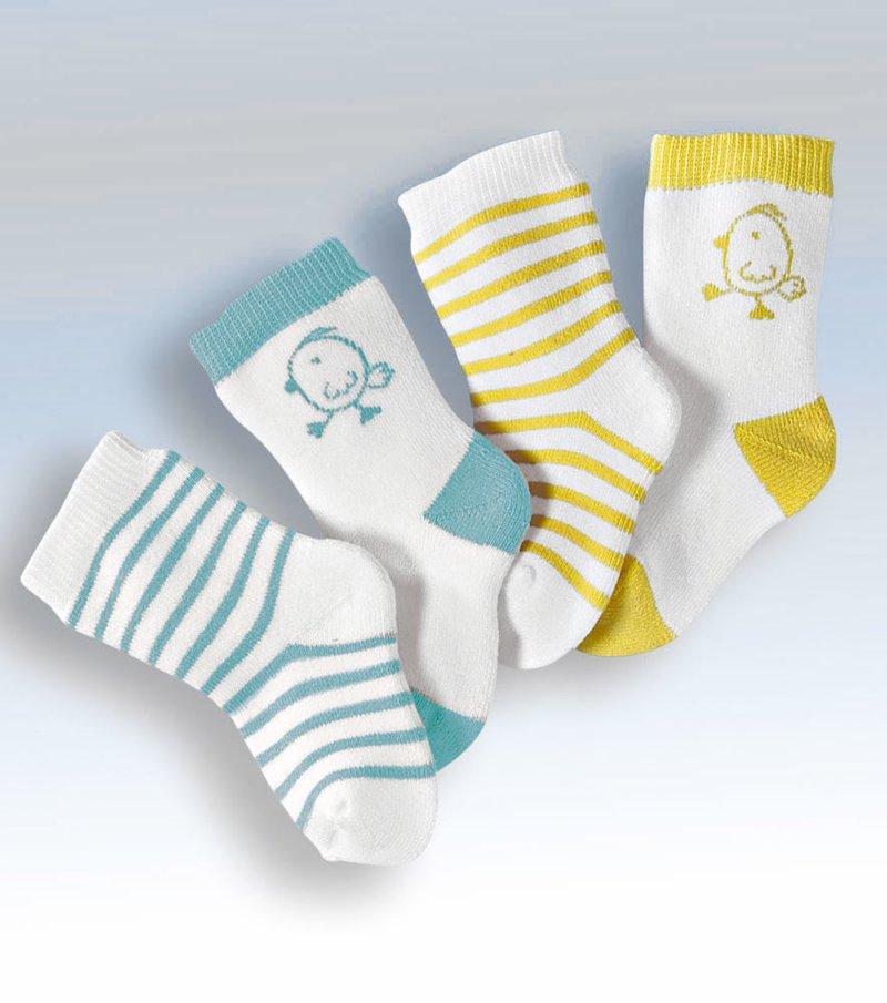 Lote 2 pares de calcetines niño con rayas y jacquard