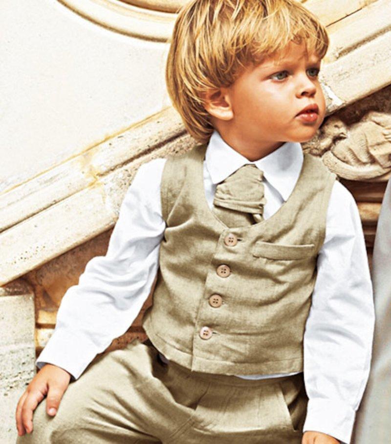 Camisa de vestir de niño manga larga