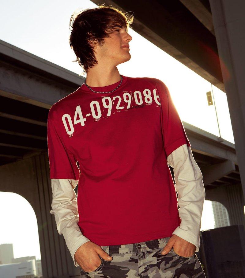 Camiseta doble manga