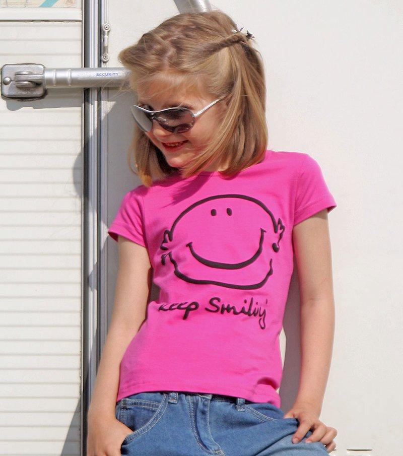 Camiseta manga corta niña estampada